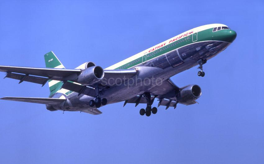 Cathay Pacific Tristar On Kai Tak Approach China