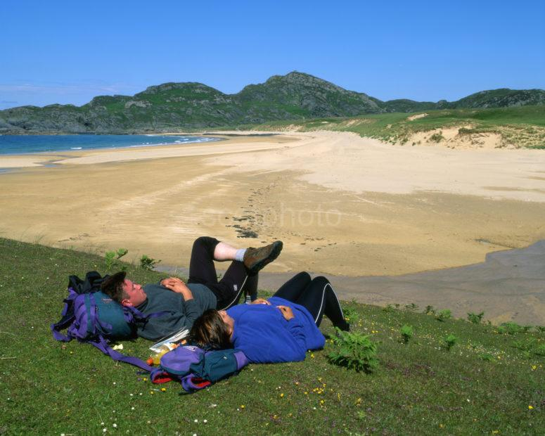 Relaxing After A Walk On Colonsay With Kiloran Bay Sands