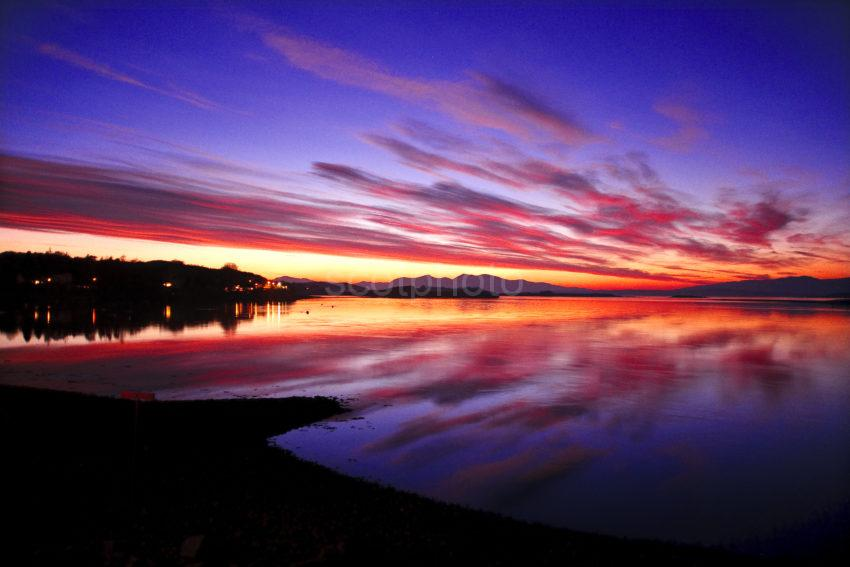 Wide Angle Of Mull Sunset