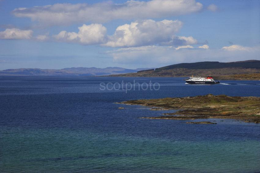 MV Finlaggan Heads Out To Sea From West Loch Tarbert