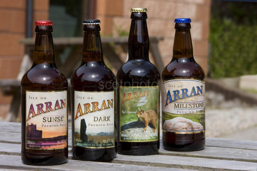 I5D0487 Four Popular Arran Beers Outside The Brewery