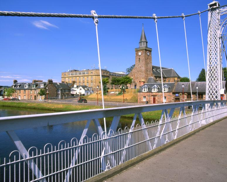 Greig Street Footbridge Across River Ness Inverness