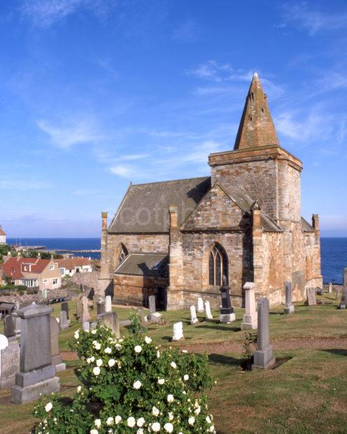 Beautiful 13th Cent Church Of St Monance East Neuk Of Fife