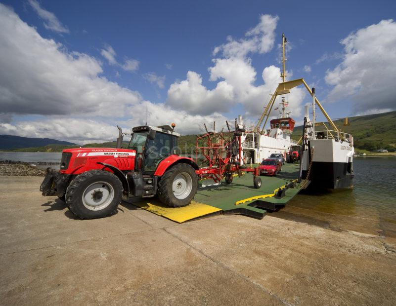 Red Massey Fergusson Tractor Drives Of Bute Ferry