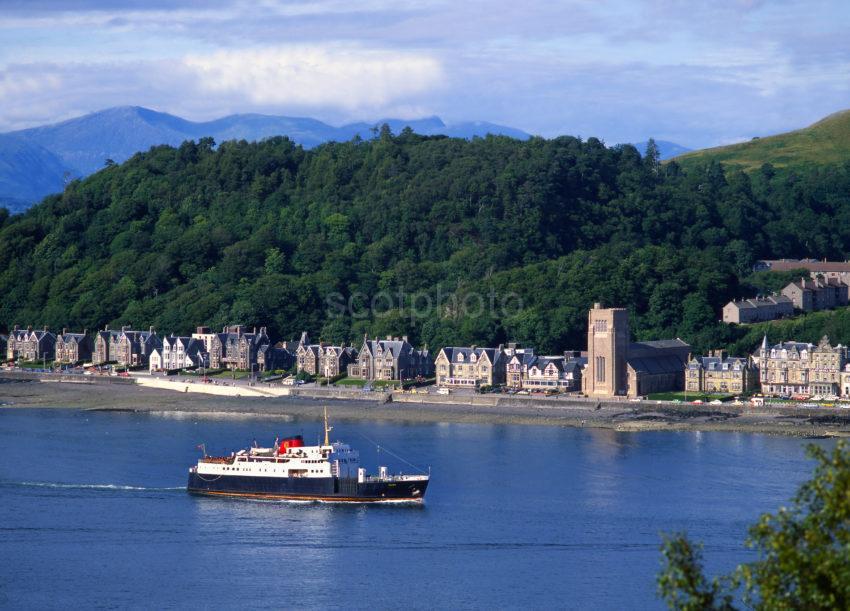 MV Columba Sails Into Oban Bay 1980s Argyll