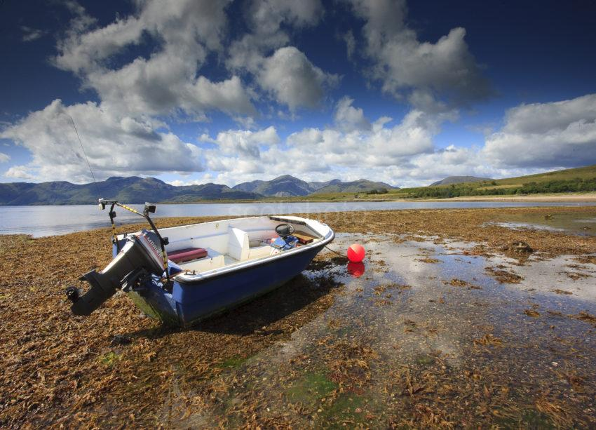 Cuil Bay Loch Linnhe With Morven Hills In View Argyll