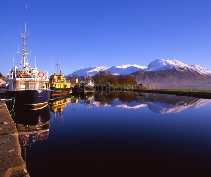 Colourful Scene In The Corpach Basin With Ben Nevis In View Lochaber