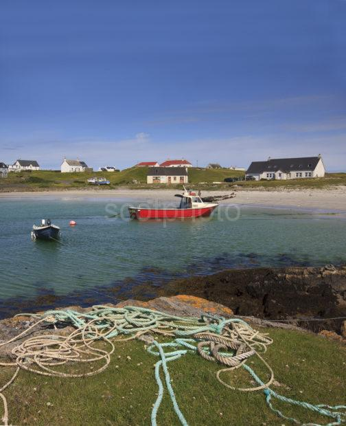 Scarinish Harbour Tiree PORTRAIT