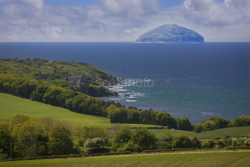 Summer View Towards Culzean Castle And Ailsa Craig Ayrshire