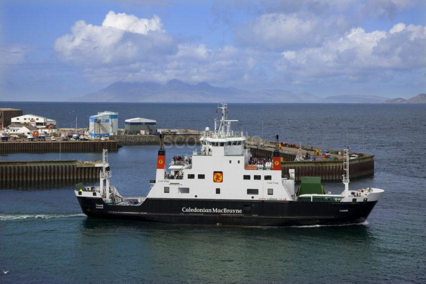 The MV Coruisk Departs Mallaig With Island Of Rhum In Distance