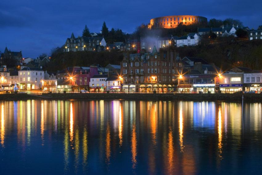 Oban At Dusk From Railway Pier