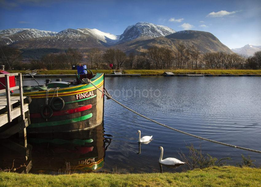 BEN NEVIS AND BARGE BANAVIE