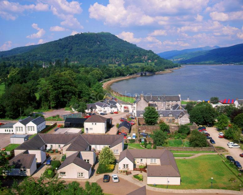 View Onto Inveraray And Loch Fyne From The Bell Tower Argyll