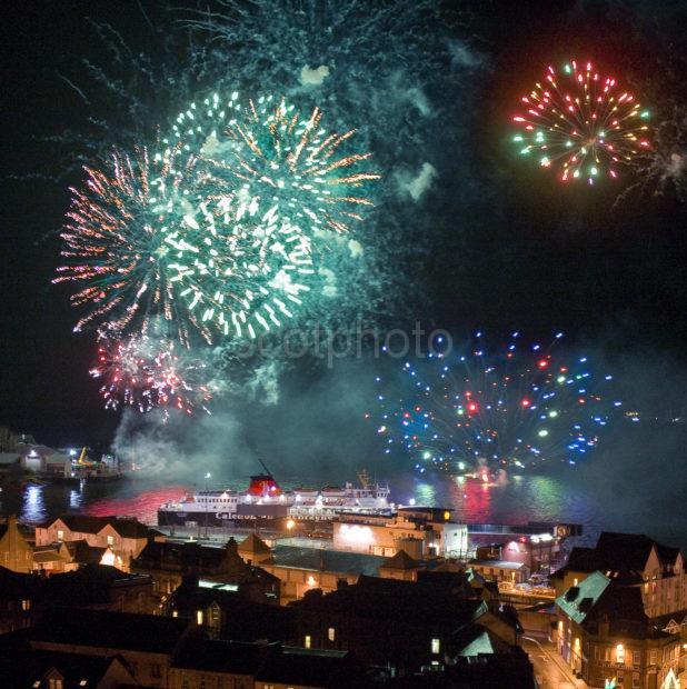 Oban Fireworks Over Oban With Extra Bursts Added