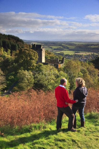 Castle Campbell With Couple