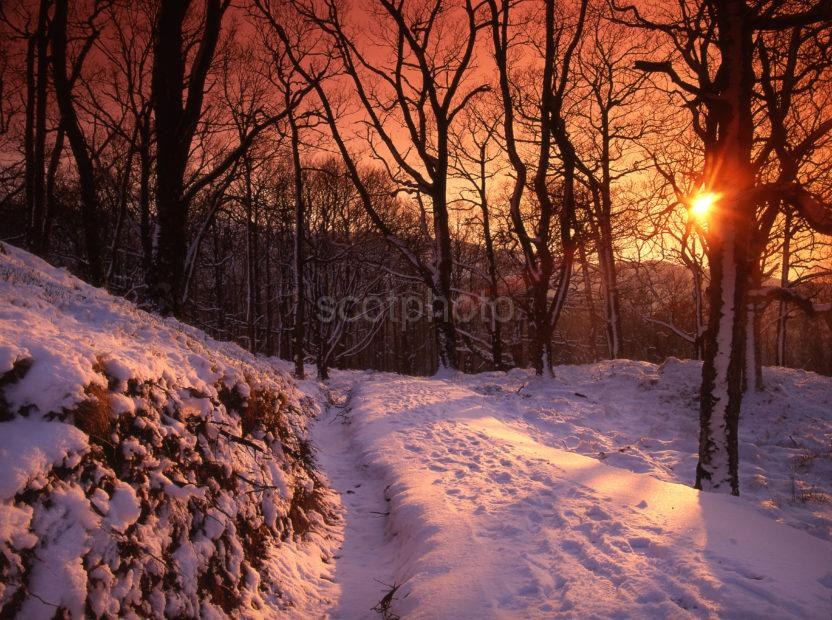 Winter Sunset Nr Glen Lochy Argyll