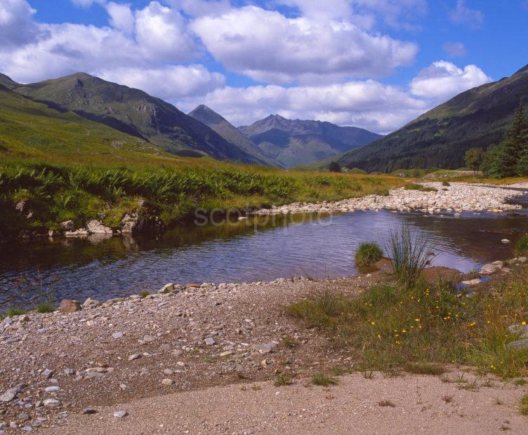 Picturesque Glen Shiel From The River Highlands