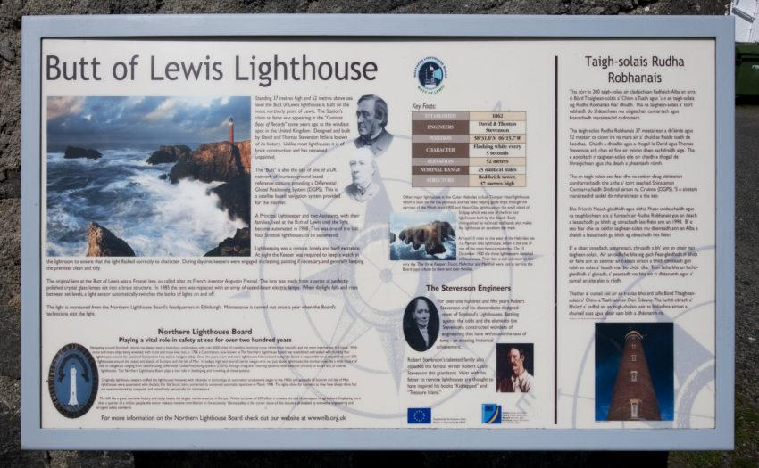 DSC 5328 BUTT OF LEWIS LIGHTHOUSE SIGNAGE LEWIS