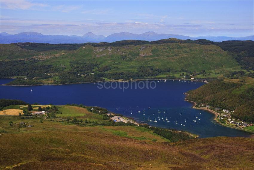 Loch Melfort And Kilmelfort And The Hills Of Mull