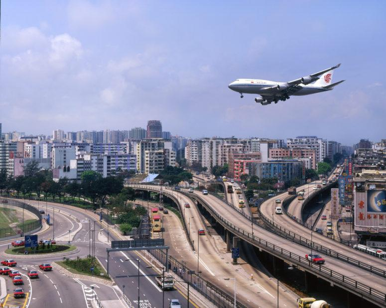 Air China Boeing 747 400 About To Land At Kai Tak