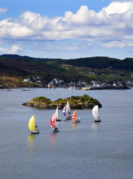Yachts Pass Kyle Of Lochalsh