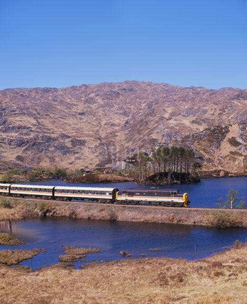 Class 37 400 Hauls West Highlander Across Loch Eilt From Mallaig To London 1989