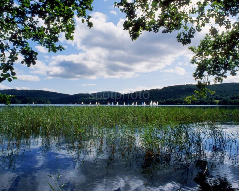 Yachts Sailing On Loch Ard Trossachs