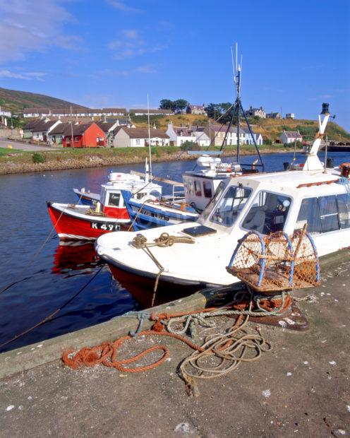 Helmsdale Village And Harbour Caithness