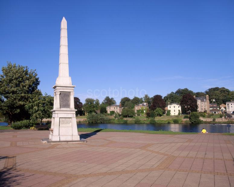 War Memorial On North Inches Nr River Tay From Charlotte St Perth
