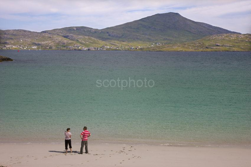 Towards Castlebay Barra From Beaches On Vatersay