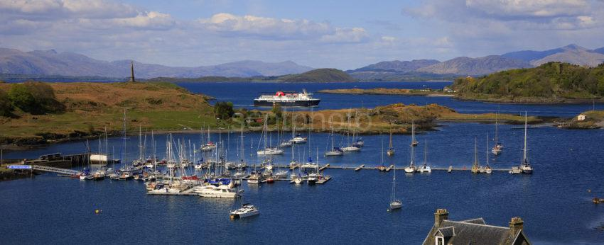 MV Isle Of Mull Passes North End Of Kerrera 2012 Panoramic Cropped