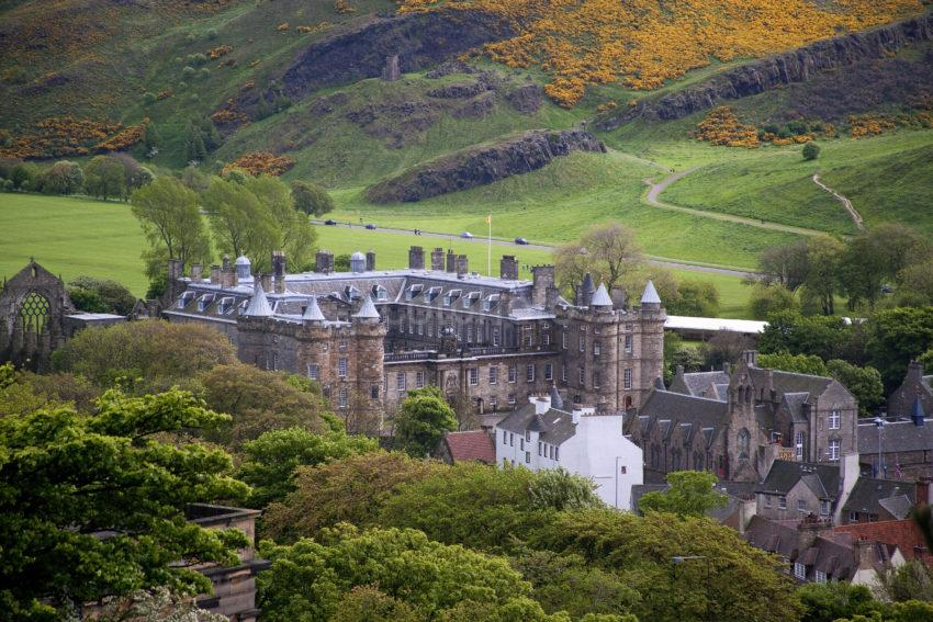 View Of Holyrood Palace And Salisbury Cragg 1