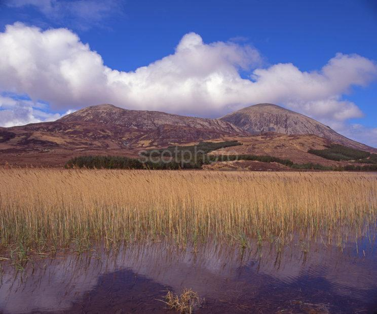 Lovely Spring View Of The Red Hills From The Shore Of Loch Cillchriosd Strath Suardal Island Of Skye