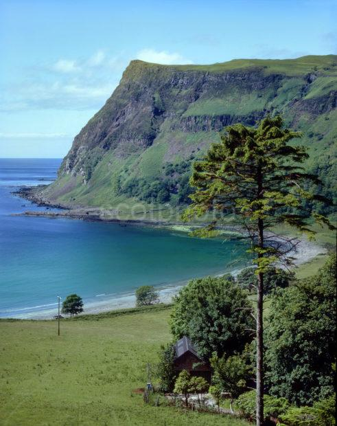 Summer View Of Carsaig Bay And Cliffs Island Of Mull