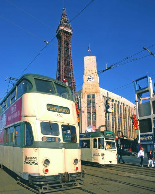 B631 Blackpool Tower With Trams