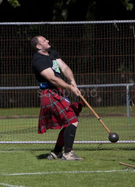 Hammer Throwing Oban Highland Games