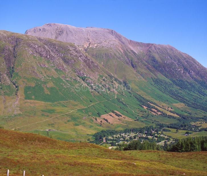 Looking Down Onto Glen Nevis And Ben Nevis Fort William Lochaber West Highlands