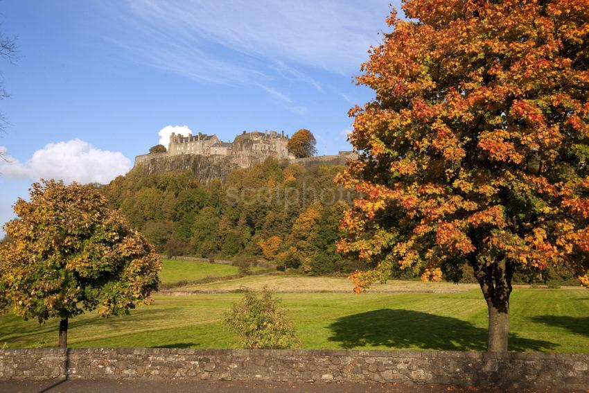 Autumn View Towards Stirling Castle