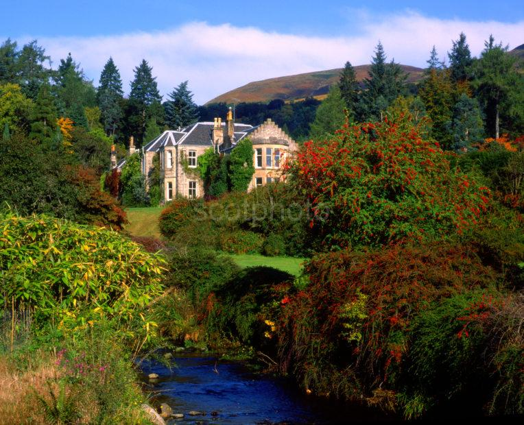 Early Autumn Scene In Crarae Gardens On Loch Fyne Argyll