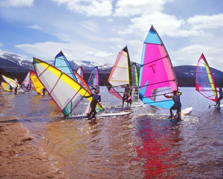 Wind Surfing Loch Morlich Cairngorms