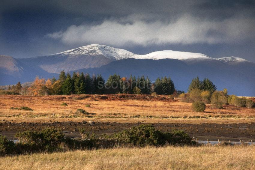 DRAMATIC LIGHT MORVEN HILLS FROM ACROSS ERISKA MEDIUM 1