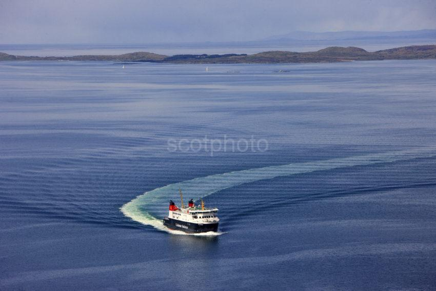 MV Finlaggan At Speed With Gigha In View