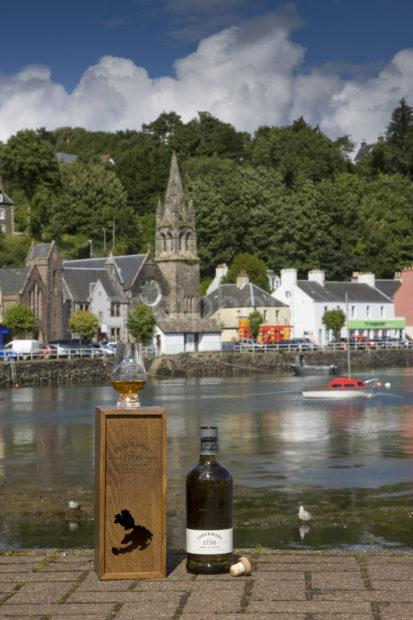 Tobermory Whiskey With Harbour View