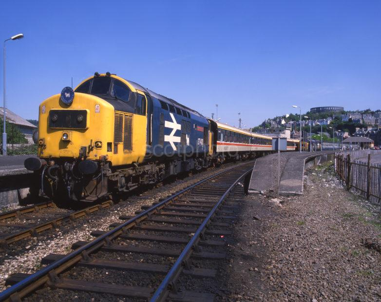 Class 37 Mary Queen Of Scots With West Highlander In Oban