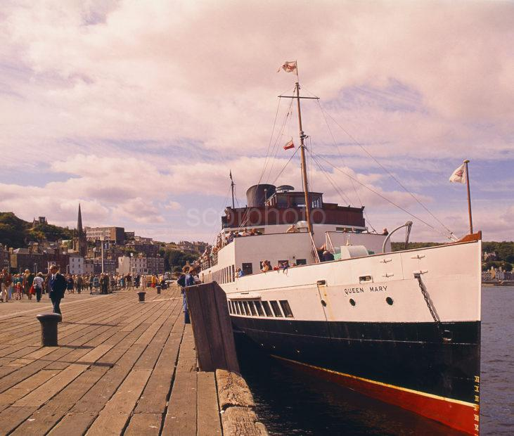 Queen Mary 2 At Rothesay Pier Isle Of Bute 1977