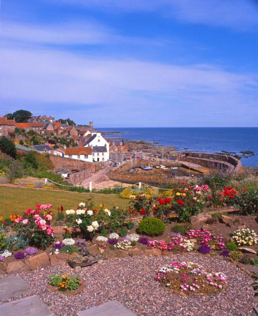 Typical East Neuk Fishing Village Pitenweem Harbour Fife East Scotland