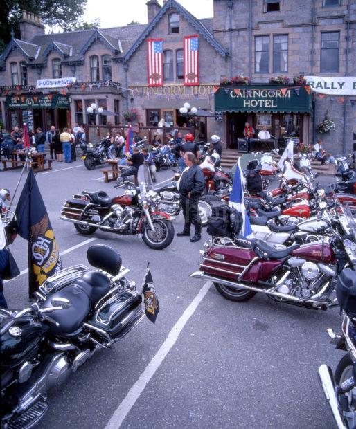 Harley Davidson Rally At Aviemore Grampion