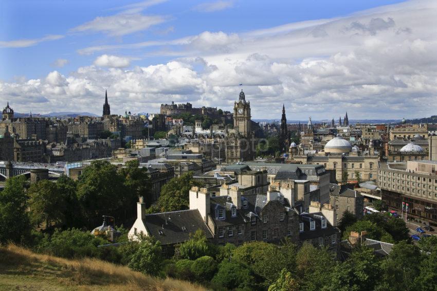 Edinburgh From Calton Hill Lothian