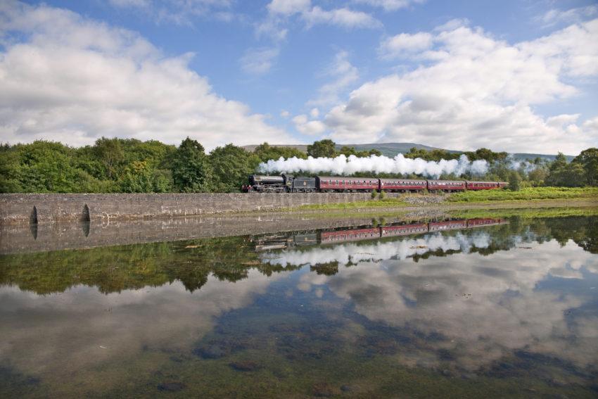DSC 7115 The Great Marquess Hauls The Jacobite Past Loch Eil Mallaig Line 2010