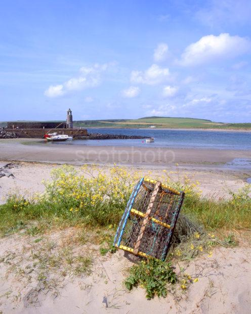 Beautiful Pier And Sandy Bay At Port Logan Dumfries And Galloway